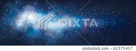 Vector night starry sky background. 62375457