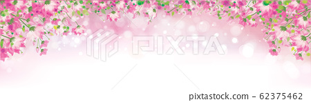 Vector pink floral background. 62375462