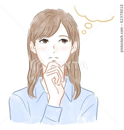 Thinking woman 62378018