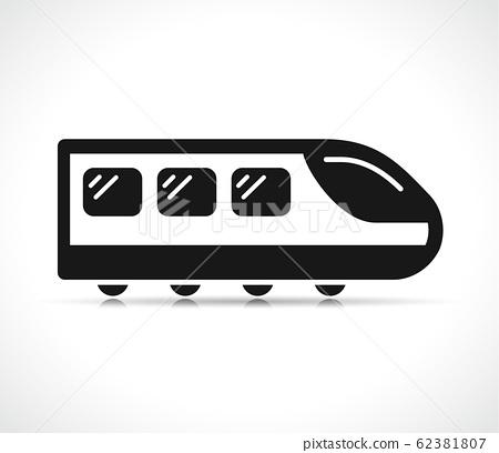 Vector illustration of train icon 62381807