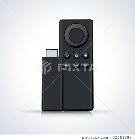Vector llustration of remote control on white 62381898