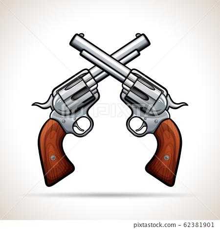 Vector gun design on white background 62381901