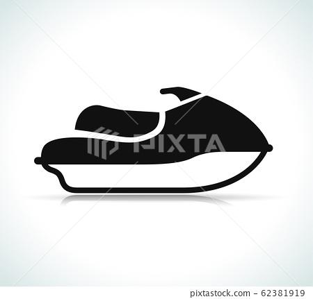 Vector jet ski black icon 62381919