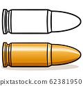 Vector illustration of bullet design 62381950