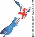 Shiny Grunge map of the New Zealand 62382379