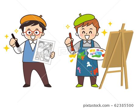 漫畫家和畫家漫畫繪畫 62385500