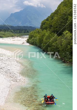 Rafting, Soca in Triglav national park, Slovenia 62386582