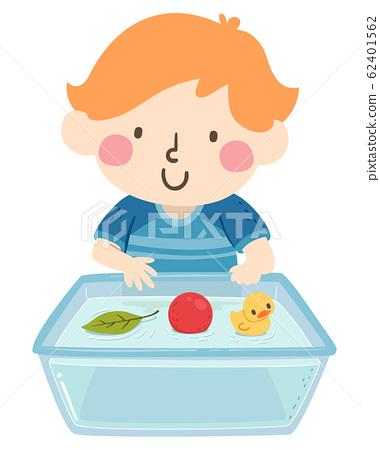 Kid Boy Float Things Illustration 62401562