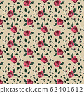 trendy 2020 fabric vintage colors seamless pattern, rose vector background 62401612