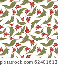 trendy 2020 fabric vintage colors seamless pattern, rose vector background 62401613
