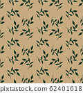 trendy 2020 fabric vintage colors seamless pattern, leaves vector background 62401618