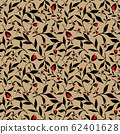 trendy 2020 fabric vintage colors seamless pattern, rose vector background 62401628