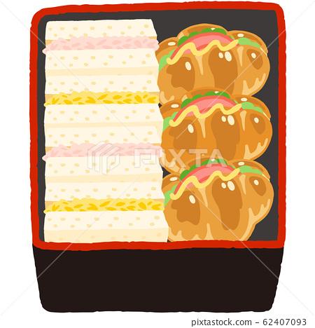 盒飯盒三明治 62407093