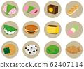 Japanese sweets icon set 62407114
