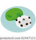 Yomogi mochi and Mame Daifuku Japanese sweets 62407121