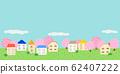 벚꽃 나무와 주택지 거리 62407222