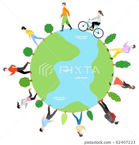 지구와 걷는 사람들 62407223