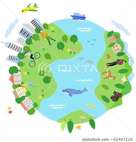 地球自然與城市景觀 62407228