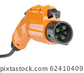 Car charger power plug with cable. Electric car 62410409