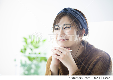 年輕的女人,肖像 62414392
