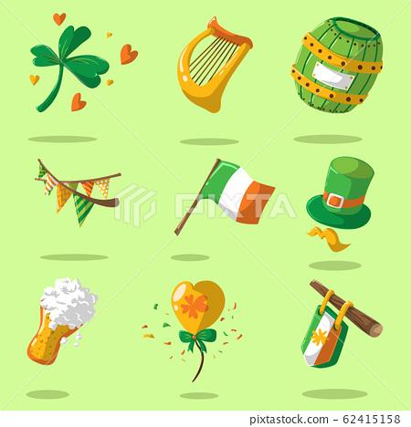Saint Patrick s Day set. Vector Illustration 62415158