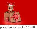 3d rendering character of a cute little reindeer 62420486