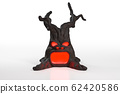 3d rendering of Creepy haunted devil tree, isolated on white background with clipping paths for Halloween holiday concept. 62420586