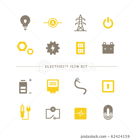 電力 電 圖標 62424159