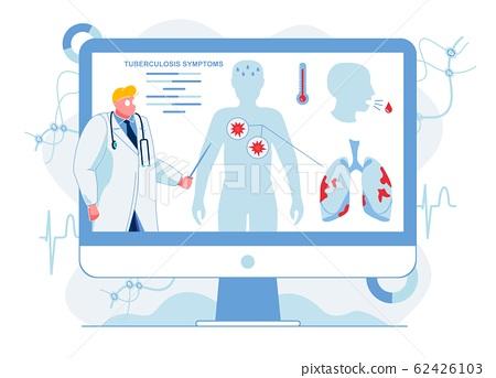Medic Describes Tuberculosis Symptoms Illustration 62426103