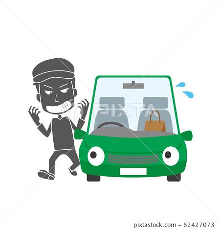 盜車鎖搶劫汽車破壞汽車小偷 62427073
