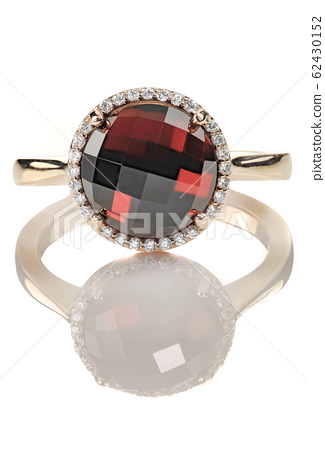 Ruby and diamond halo fine jewelry non-traditional 62430152