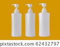White plastic pump bottle isolate on white 62432797