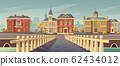 Bridge over rivet and promenade old european town 62434012