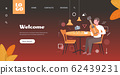 music blogger playing guitar live streaming musical blog concept man sitting at cafe table recording video using camera on tripod horizontal copy space full length 62439231