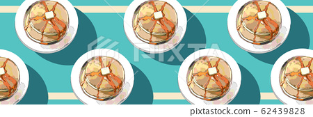 Hot cake background 62439828
