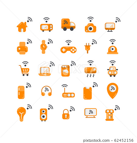 Internet of Things flat icon set. Vector and 62452156