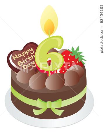 Fantastic Birthday Cake And Number Candle Chocolate 6 Stock Personalised Birthday Cards Vishlily Jamesorg