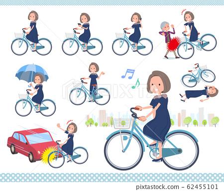 flat type Navy blue dress women_city cycle 62455101