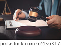 Lawyer, attorney with gavel at work. Law concept 62456317