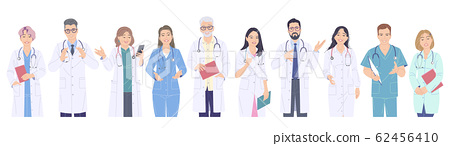 Medical Workers Male and Female Characters. 62456410