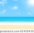 Sunny beach landscape. 62456430