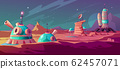Landscape of Mars surface with colony buildings 62457071
