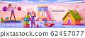 Children on playground in kindergarten 62457077