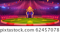 Circus arena, round stage for performance 62457078