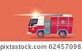 Red fire engine, emergency rescue truck 62457098