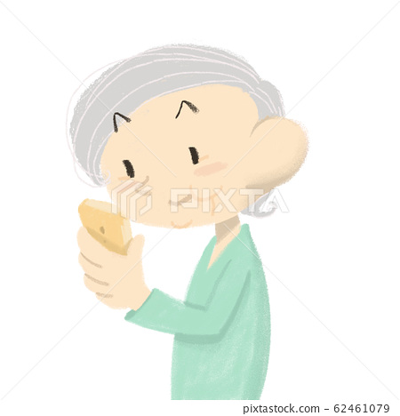 Grandma using a smartphone 62461079
