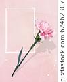 康乃馨的水彩背景花蒙太奇 62462307