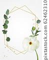 水彩背景與白花,桉樹蒙太奇 62462310