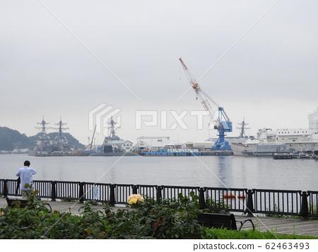 Yokosuka, a cloudy naval port town 62463493