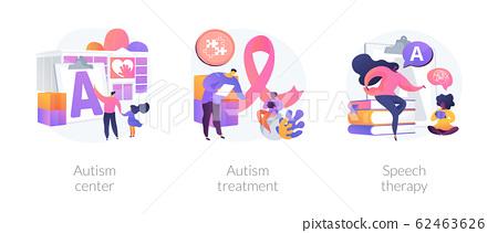 Autism spectrum disorder vector concept metaphors. 62463626